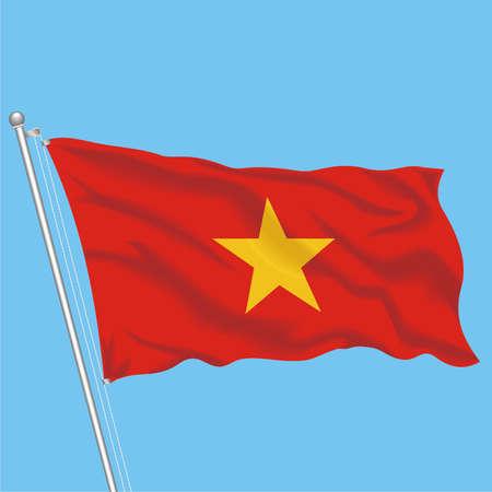Developing flag of Vietnam