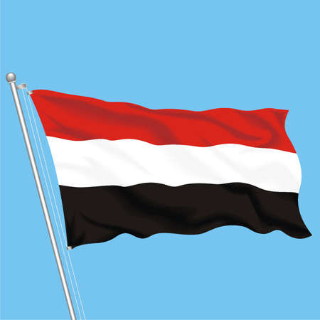 Developing flag of Yemen Illustration