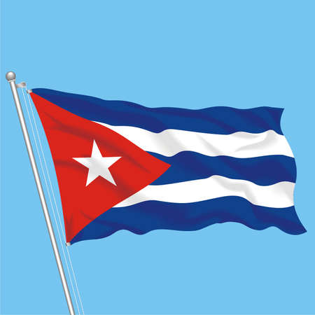 Developing flag of Cuba Illustration