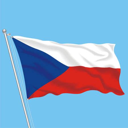 Developing flag of Czech Republic Illustration