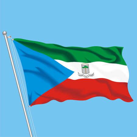 Developing flag of Equatorial Guinea Illustration