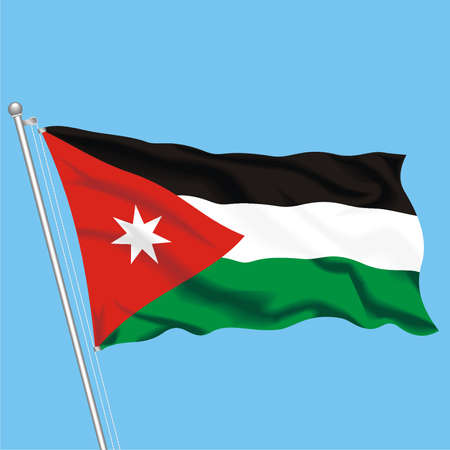 Developing flag of Jordan