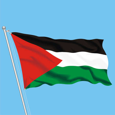Developing flag of Palestine Stock Vector - 79717787