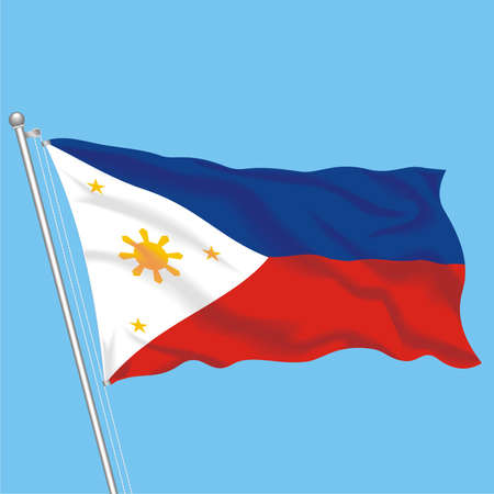 Developing flag of Philippines Illustration