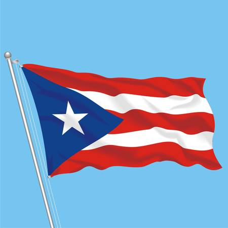 Developing flag of Puerto Rico Stock Vector - 79717780
