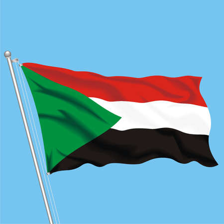 Developing flag of Sudan
