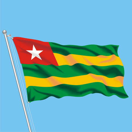 Developing flag of Togo Stock Vector - 79717789