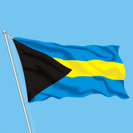 Developing flag of Bahamas Stock Vector - 79717784
