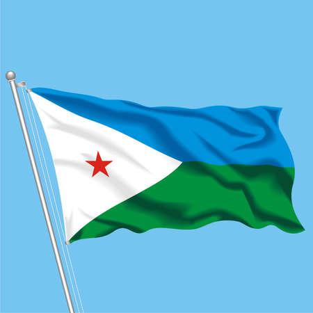Developing flag of Djibouti