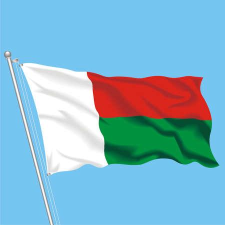 Developing flag of Madagaskar Stock Vector - 79892827