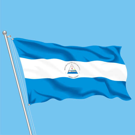 Developing flag of Nicaragua Illustration