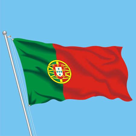 Developing flag of Portugal Illustration