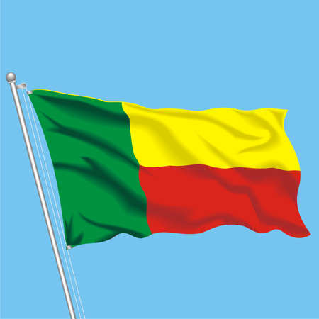 Developing flag of Benin Stock Vector - 79895680