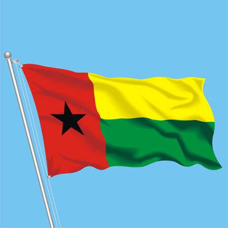 Developing flag of Guinea Bissau Illustration