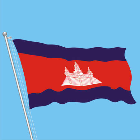 Developing flag of Cambodia Stock Vector - 80089896