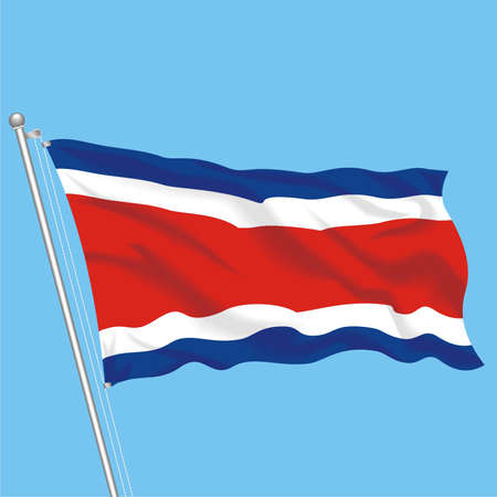 Developing flag of Costa Rica