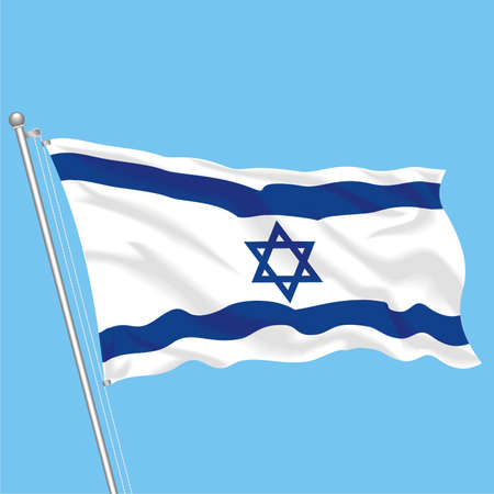 Developing flag of Israel Stock Vector - 80089897