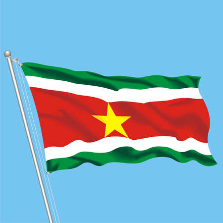Developing flag of Suriname Stock Vector - 80089901