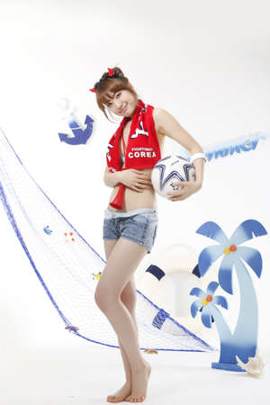 crimson colour: Cheering of World Cup soccer game