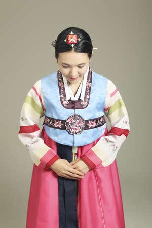 Hanbok (Korean traditional costumes) Stock Photo - 10208321