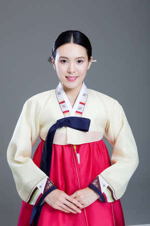 Korean traditional costumes in Holidays Stock Photo - 10208399