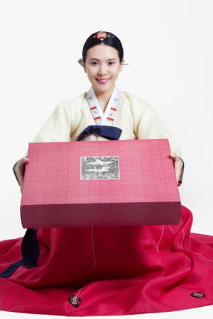 showgoon: Woman in Korean Traditional costume in Holiday
