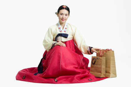 Woman in Korean Traditional costume in Holiday Stock Photo - 10211427
