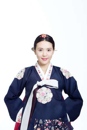 Woman in Korean Traditional costume in Holiday
