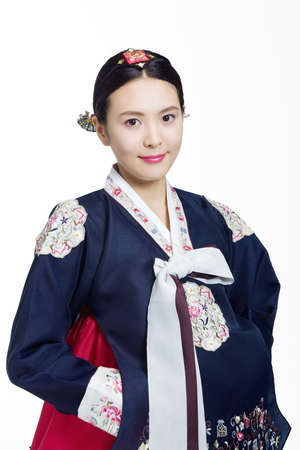 nukki: Woman in Korean Traditional costume in Holiday