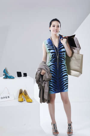 the appointed limit of life: Womens lifestyle during the winter shopping season  LANG_EVOIMAGES