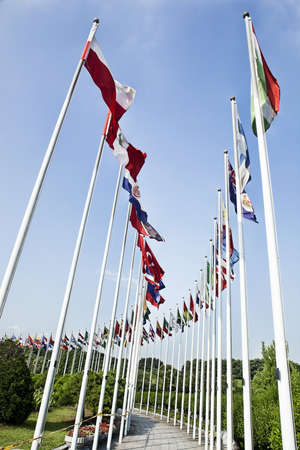 showgoon: Flags of all nations in the park