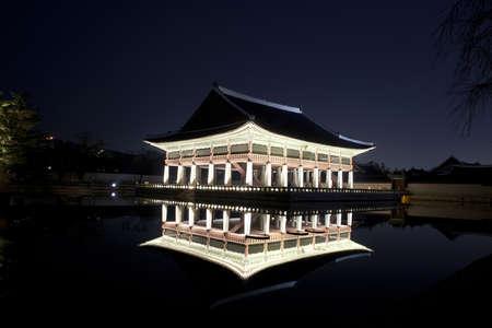 Night view of Korean old palace (Gyeongbokgung) Stock Photo - 10230894