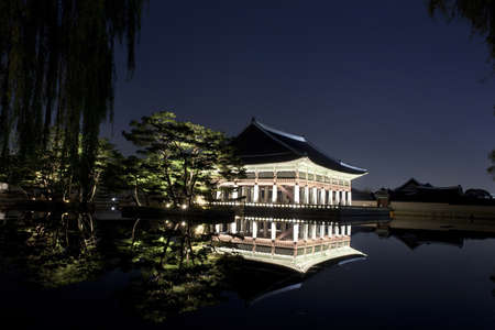 Night view of Korean old palace (Gyeongbokgung) Stock Photo - 10230896