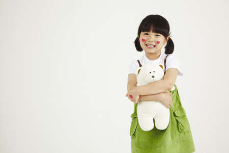 child playing clinic with soft-toys Stock Photo - 16734830