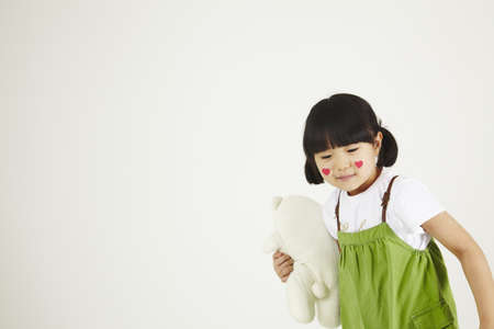 child playing clinic with soft-toys Stock Photo - 16734837