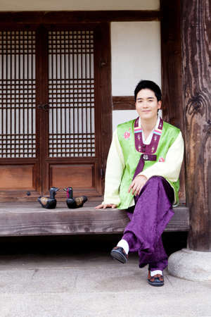 Korean traditional dress Stock Photo - 16705293