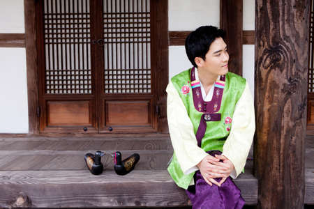 Korean traditional dress Stock Photo - 16705296