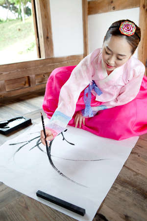 Korean traditional dress Stock Photo - 16735031