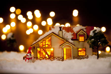 Christmas house architectural model LANG_EVOIMAGES