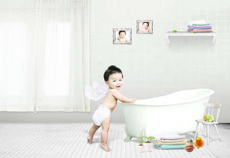 layered photo: child, kid