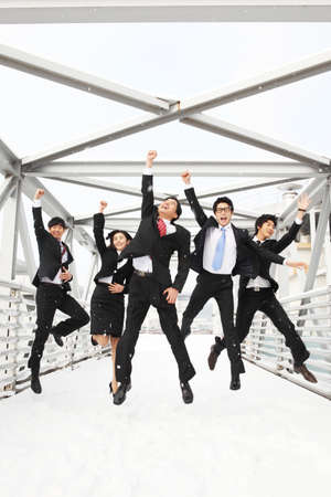 morale: Group of business people  LANG_EVOIMAGES