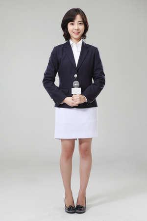 News announcer or anchor woman Stock Photo - 16746222