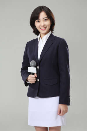 News announcer or anchor woman Stock Photo - 16746252