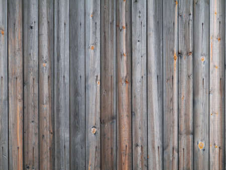 Fragment of weathered wall made of wooden planks with visible nail heads and rust stains Stock fotó