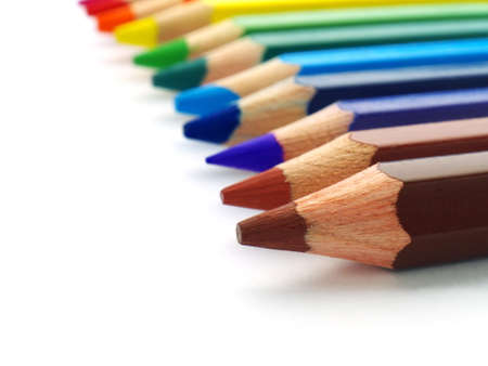 colored pencils in a row, macro, shallow depth of field Stock fotó