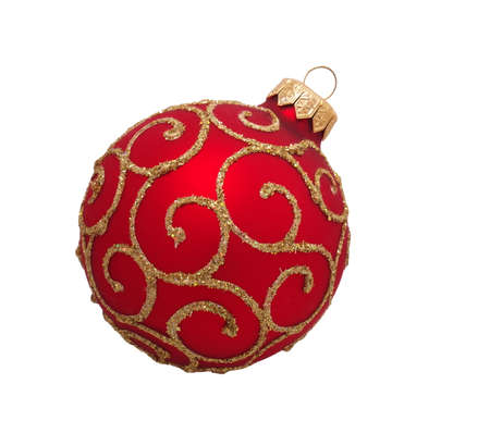 red christmas ball, isolated on white background Stock fotó