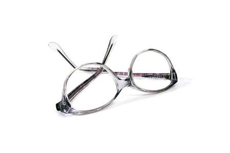 plastic reading eyeglasses isolated on white background Stock fotó - 154044316