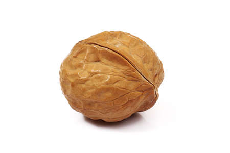 ripe brown walnut isolated on white background Stock fotó - 157330879