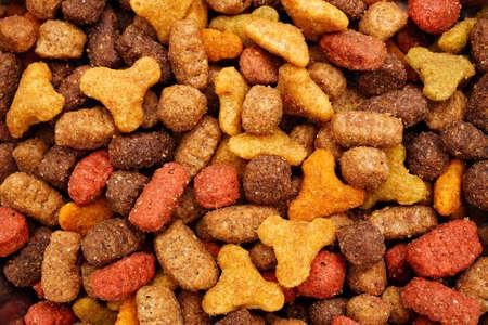 macro of pet dry food background Stock fotó
