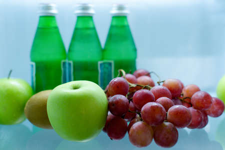 Apple and Grapes Imagens